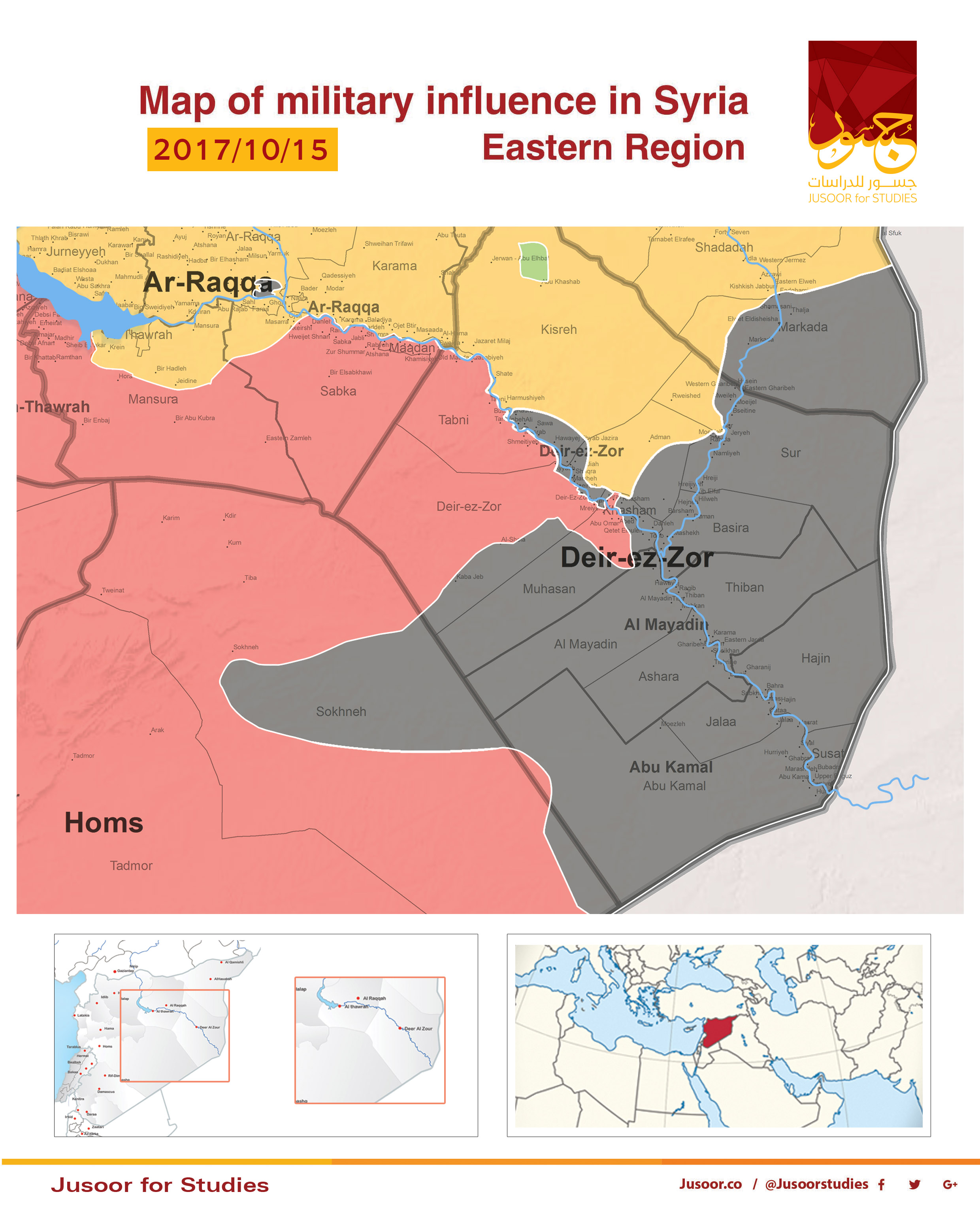 Map of military influence in Syria 15102017